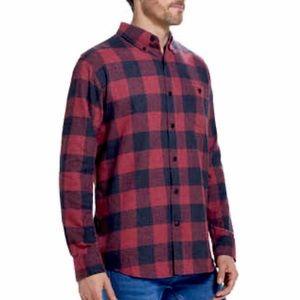 Weatherproof Vintage Flannel Shirt Plaid NWT Red
